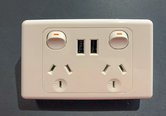 A GPO with USB charging ports